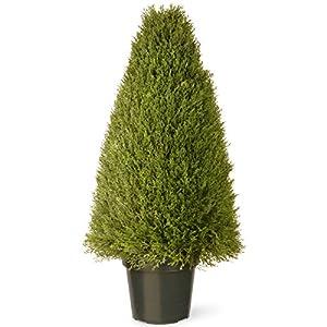 National Tree Company Artificial Shrub | Includes Pot Base | Upright Juniper – 36 Inch