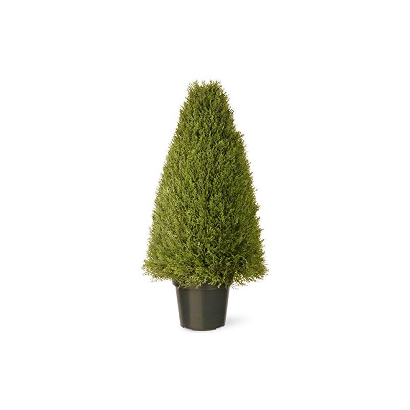 silk flower arrangements national tree company artificial shrub   includes pot base   upright juniper - 36 inch