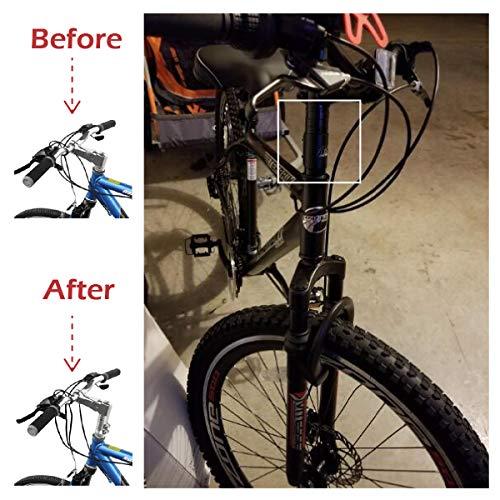 TRIWONDER MTB Fahrrad Gabelschaft Extender, Höhen-Adapter, Ahead Vorbau verstellbar, Aluminium Fahrradlenker Erhöhung (Blau) - 6