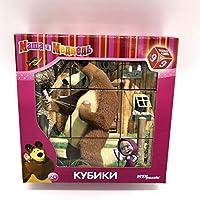 [Harajukustore]パズル9キューブMasha and the Bear、漫画、パズル、子供のおもちゃ、好きな漫画のキャラクター、プレハブのブロック、おもちゃ、パズル、パズル