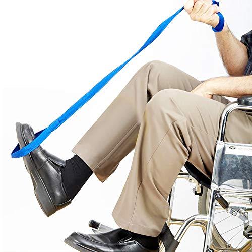 SHIYN Beinheber, Hand- und Fußschlaufen, benutzerfreundlicher Beinheber für Erwachsene, ältere Menschen und Behinderte, Aufstehhilfe für Betten, Rollstühle und Autos