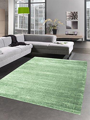 CARPETIA Moderna Alfombra Moquette de la Sala Solo Color Uni Verde Menta Verde Verde Claro Größe 120x170 cm