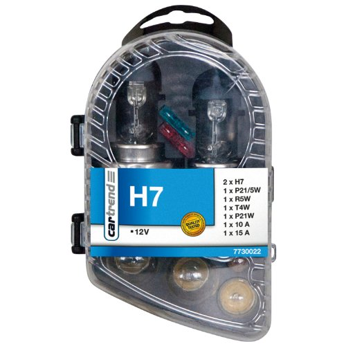 Cartrend Caja con lámparas incandescentes H7, 9-piezas