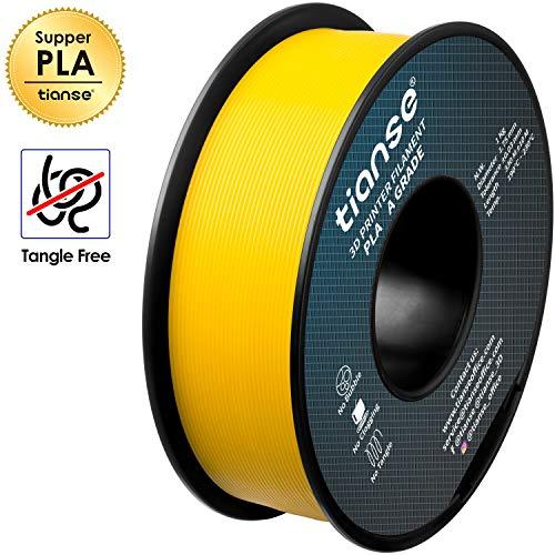 TIANSE PLA Giallo fluorescente filamento stampante 3d, 1,75 mm, precisione dimensionale +/- 0,03 mm (2,2 lbs.)