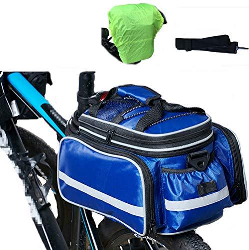 HAOYK Multifunción Portátil Al Aire Libre Impermeable Bicicletas Alforjas Bolsas de Bicicleta para Portaequipajes Trasero con Cubierta y Cinturón a Prueba de Lluvia