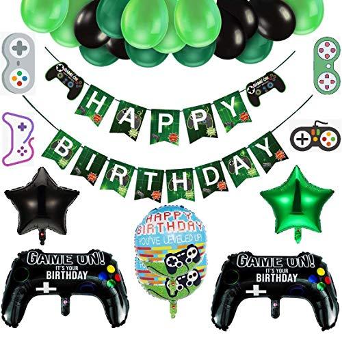 Decoraciones de Cumpleaños para Niños, Decoraciones para Fiestas de Videojuegos, Globos de Playstation, Globos de Control de Videojuegos, Globos Grandes de Papel de Aluminio