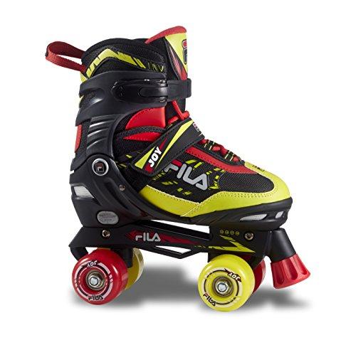 Fila Jungen Joy Roller Skate, Schwarz/Rot/Lime, S/34