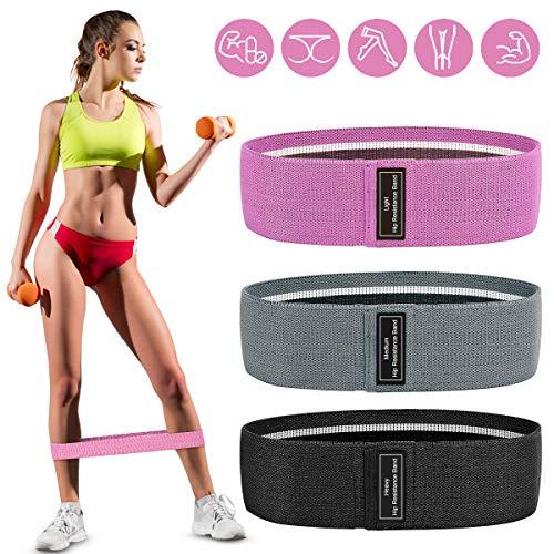 AODOOR Fitnessbänder Set, Resistance Hip Bands Widerstandsbänder Trainingsbänder Set mit 3...