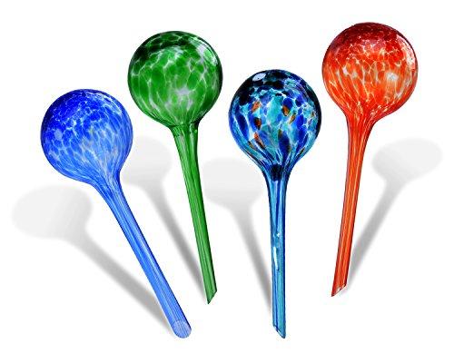 Fascigirl Blumen Bewässerungskugeln, 4 Packungen aus Glaspflanze Gießkugeln Selbstbewässernde Aqua Globen