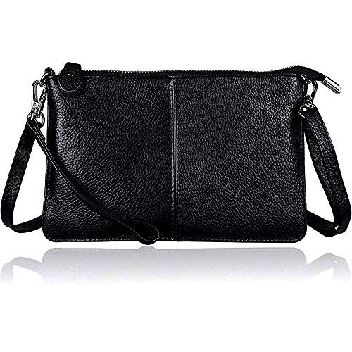 befen 100% leather, Leather Bag Contains Wrist and Crossbody Strap, Suitable for Festivals, Holidays, Big Phones