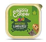 Edgard & Cooper Comida humeda Perros Adultos sin Cereales, Natural con Cordero y Ternera. Alimentación balanceada y Sana con proteinas y aminoácidos. Carne 100% Fresca en paté. Pack de 11x150gr