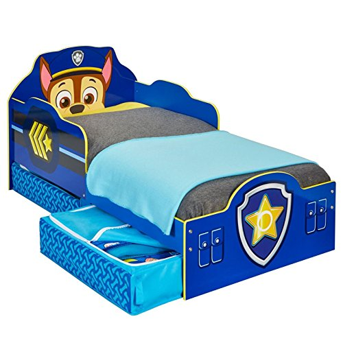 Paw Patrol Chase Toddler Bed with Storage plus Deluxe Foam Mattress
