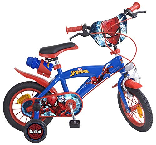 Toimsa Vélo pour Enfant sous Licence Spiderman 12 Pouce de 3 à 5 Ans, 872