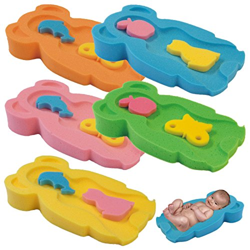 Baby Badeschwamm Sitzschwamm Badeunterlage Für Babys ab der Geburt Gr.MIDI (Gelb)