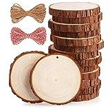 Rodajas de Madera Diámetro 10-11 cm 15pcs Fuyit Troncos Madera Decoracion Apto para Pirograbador de Madera, Pintura,Navidad