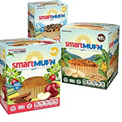 GUILT-FREE SNACKING: Cutting carbs is easy with great tasting sugar free smart muffins. Smartmuf'n packs a whopping 10 grams of fiber and 8 grams of protein to get anyone's day started on the right foot. LOW CARB MUFFINS: Low carb, high protein, Keto...