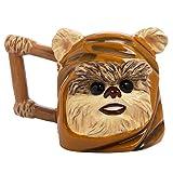 Vandor Star Wars Ewok Head Shaped Ceramic Soup Coffee Mug Cup, 20 Ounce