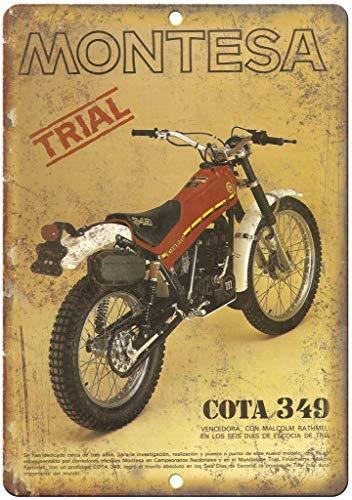 Montesa Trail Bike COTA Póster de Pared Metal Creativo Placa Decorativa Cartel de Chapa Placas Vintage Decoración Pared...
