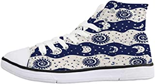 Baby Soft Low Top Canvas ShoesCute Heroes Rabbits in Vivid Girls Kids Bunnies Spirals Stars Fun Theme for Women,US 5