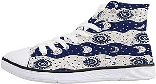 Ouxioaz Womens Skateboarding Shoes Snowflakes Canvas Tennis Shoes