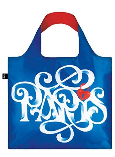 LOQI Artist Alex Trochut Paris Bag Bolsa de Tela y Playa, 50 cm, 20 Liters, Multicolor (Multicolour)