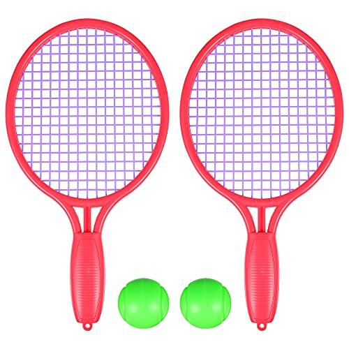 Abaodam 1 juego de raqueta de tenis para niños con pelota para deportes al aire libre juguete de playa