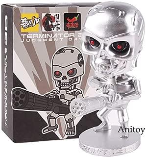 Figurine Terminator 2 Figure Judgment Day 3D Endoskeleton Bobble Head skull Movie The Terminator Film Toy Doll PVC Figure
