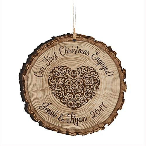 Leop345old Personalized New Couple Our First Christmas Engaged Ornament 2017 Custom Engagement gift ideas for couple him her