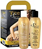 Tahe Sensations Body Gold Radiance Pack Peeling Corporal Unificador 200 ml + Oro Líquido Iluminador 200 ml