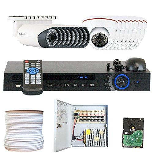 Best Deals! GW Security Inc VD16CHC8 16 Channel HDCVI DVR Security Camera System