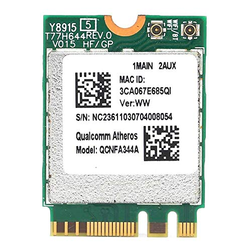 Yuyanshop Wireless Network Card,NGFF M2 for Qualcomm QCNFA344A Up to 1200Mbps Dual‑Band WiFi Network Card Support for 802.11AC Protocol,for WIN7/for WIN8/for WIN8.1/for WIN10