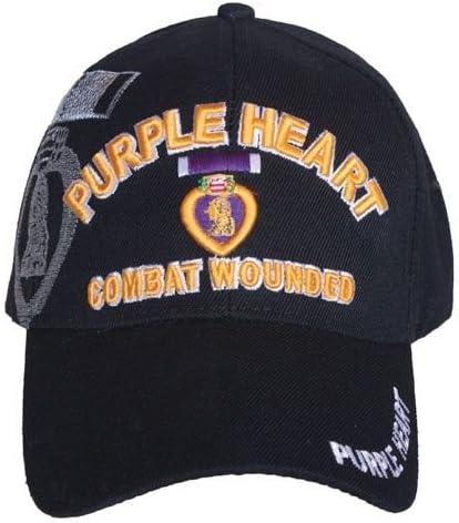 Fox Outdoor 78-441 Embroidered Ball Cap, Purple Heart/Black