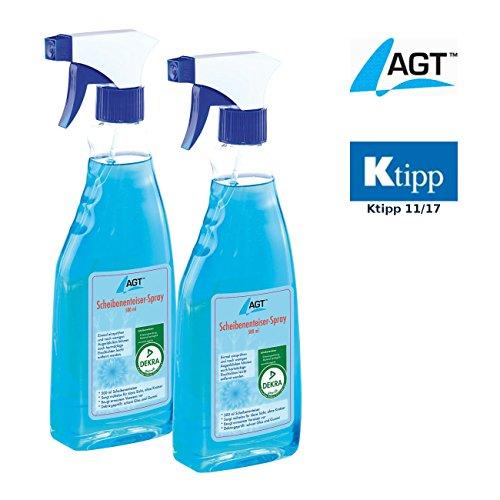 AGT Enteisungsspray: Scheibenenteiser Doppelpack, 2 x 500 ml (Frostschutzmittel)