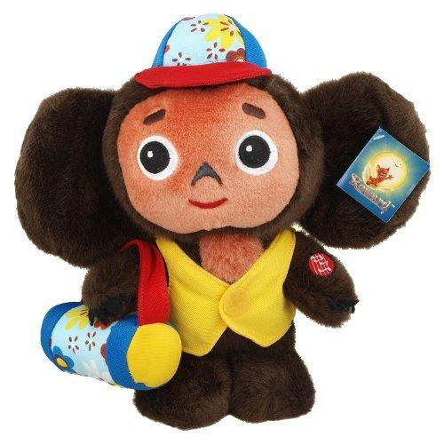 25 CM Cheburashka como turista que habla de juguete de peluche 9.8 pulgadas