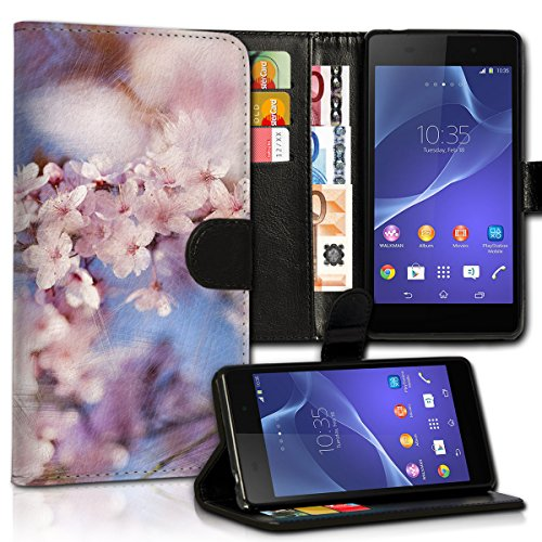wicostar Book Style HTC One A9 Premium PU-Leder Tasche Flip Brieftasche Handy Hülle Kartenfächer mit Standfunktion für HTC One A9 - Design Flip MVC75
