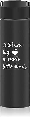 Teacher Appreciation Gift Teacher Ceramic Coffee Mug It Takes a Big Heart to Teach Shape Little Minds Funny Coffee Mug Perfect Teachers Gifts Back to School Gift Mug (Vacuum Flask)