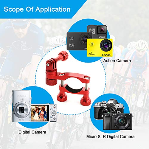 Forevercam 360°Rotation and Lock Mountain Bike Handlebar Aluminum Bike/Motorcycle Mount Compatible for all Action Cameras