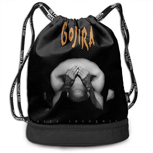 Rucksäcke,Sporttaschen,Turnbeutel,Daypacks, Gojira Terra Incognita Drawstring Bag Bundle Backpack Travel Backpack Sport Bag for Men & Women