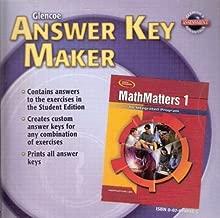 Glencoe Mathematics - MathMatters 1: An Integrated Program - Answer Key Maker