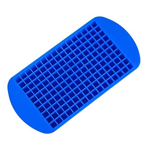 ZSQHD Molde de Silicona Reutilizable de 160 cuadrículas Mini Cubo de Hielo Molde de Silicona Reutilizable para Bricolaje Haciendo pequeños Cubitos de Hielo congelados Cuadrados