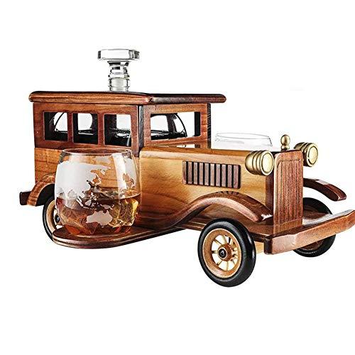 Dongbin Whisky Karaffe Set Oldtimer 750ml, Subwein und 2-10oz Whiskyglas mit altmodischem Weinglas