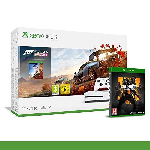 Xbox One S 1TB + Forza Horizon 4 + 14gg Xbox Live Gold + 1 Mese Gamepass [Bundle] + Call of Duty Black Ops IIII
