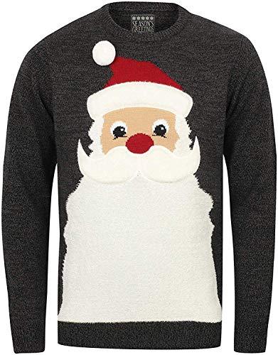 Seasons Greetings Unisex Navidad Jersey - Santa Barba - Negro/Castlerock Giro, XL