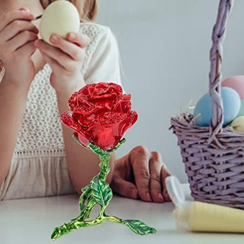 SALUTUYA Diamante Brillante de la decoración del Esmalte de Rose Viva con Incrustaciones para la decoración del hogar