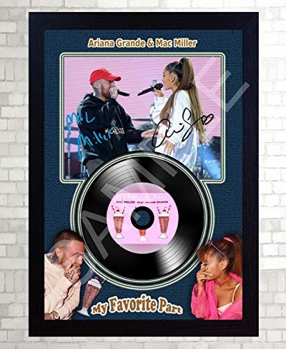 SGH SERVICES Mac Miller Ariana Grande My Favorite Parts signiertes Foto Mini LP Schallplatte