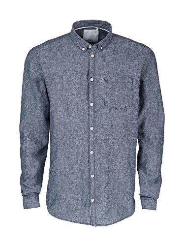 minimum - Hemden Casual - Herren - Hemd Duxford in ausgewaschenem Blau und Denimblau für Herren - S