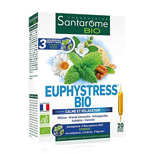 Santarome Bio Euphystress 20 Ampoules Complément Alimentaire Calme/Relaxation Programme 20 Jours
