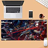 Gaming Mouse Pad Große Mauspad Wacht OW Genji Shimada Hanzo Tastatur Mat Erweiterte Mousepad for Computer-Desktop-PC-Mausunterlage (Color : 900 * 400mm, Size : 3mm)