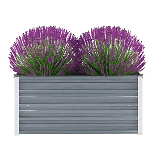 vidaXL Hochbeet Verzinkter Stahl 100x40x45cm Gartenbeet Frühbeet Blumenkasten