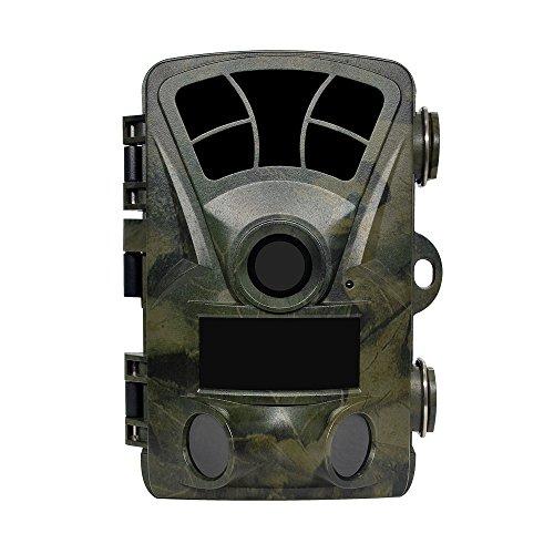 Yangers Timercamera met bewegingsmelder en opname 16 MP PIR bewegingssensor, digitaal 1080P LCD-scherm 20 m bereik infrarood nachtzicht groothoek voor tuin bewaking veiligheid